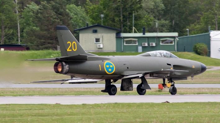 Een Saab J32 Lansen © Leonard van den Broek