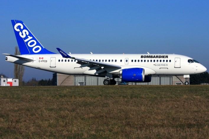 Bombardier CS100 ©Robin Bamps