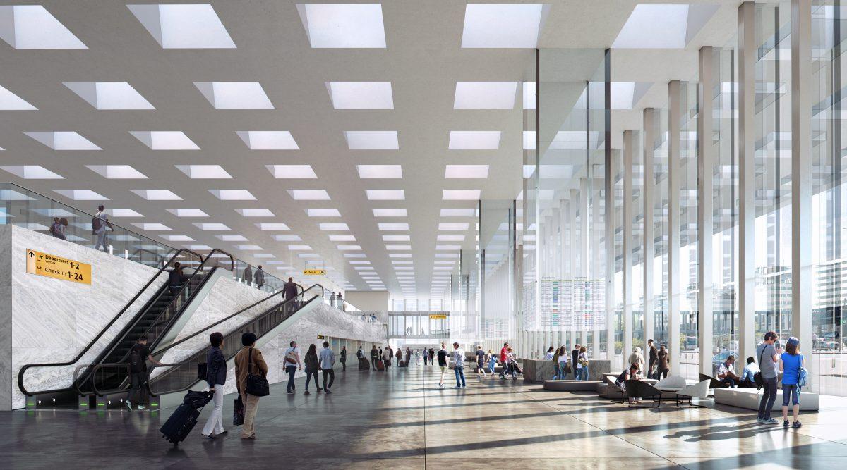 Schiphol presenteert nieuwe terminal - foto's