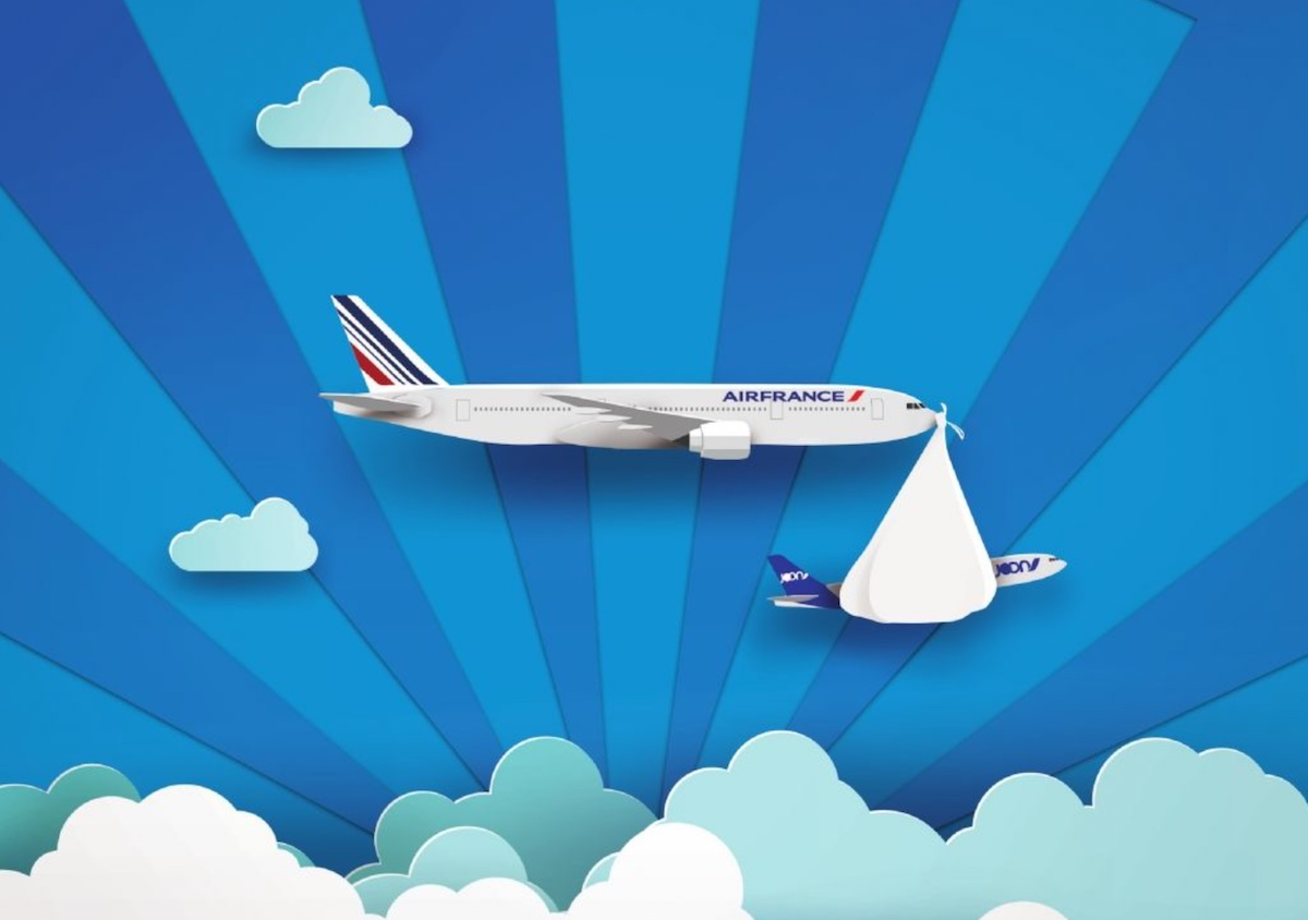 Joon doet het offensieve werk; met steun van Air France