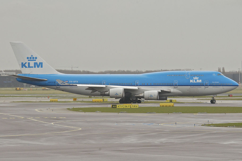 KLM 747 maakt laatste vlucht naar Twente Airport