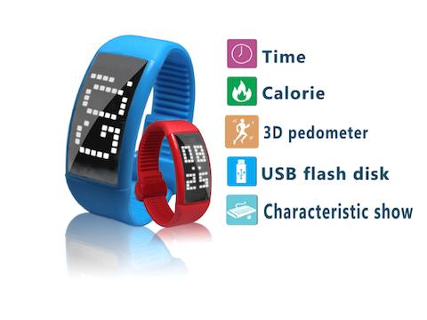 uPlay White Label Smart Wrist Band W1- Smart wrist band, watch, and  pedometer