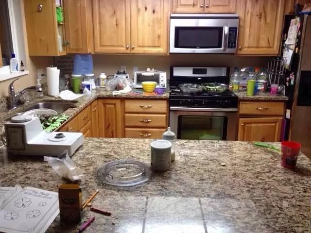 keeping a house clean