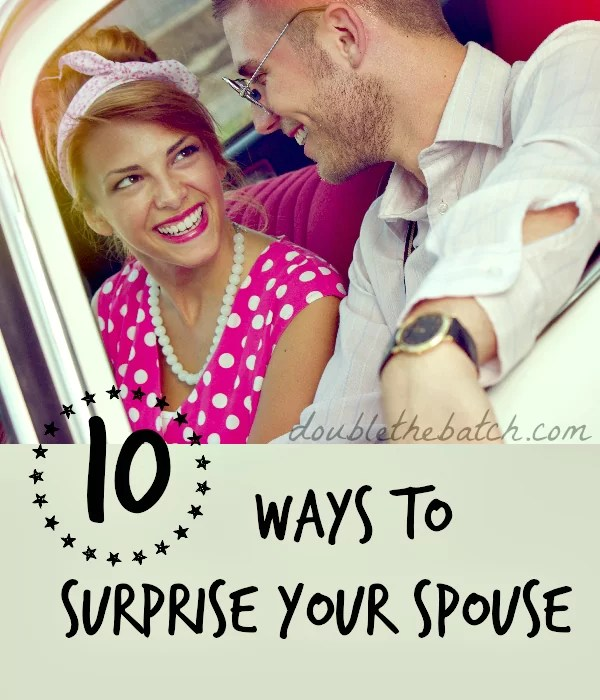 Fun ways to surprise your spouse! I LOVE this!
