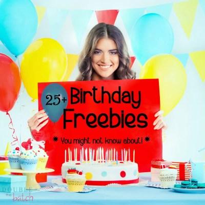 Birthday Freebies!