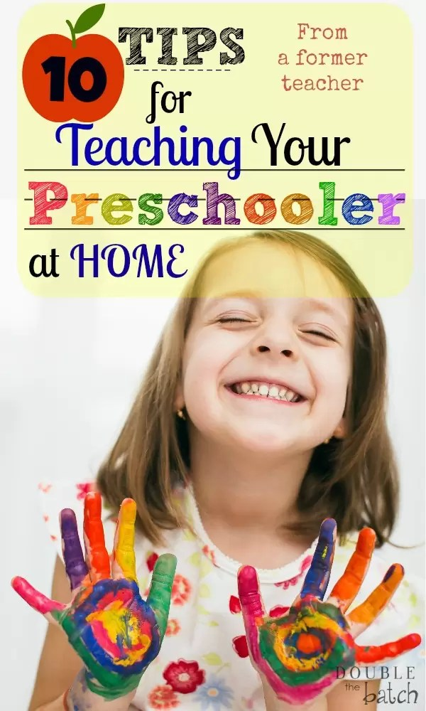 From a former teacher, learn how to teach your preschooler at home! Be confident in your ability to introduce the world to your child!