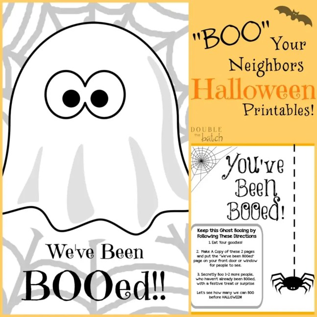 It is an image of Gorgeous You've Been Booed Printable Pdf