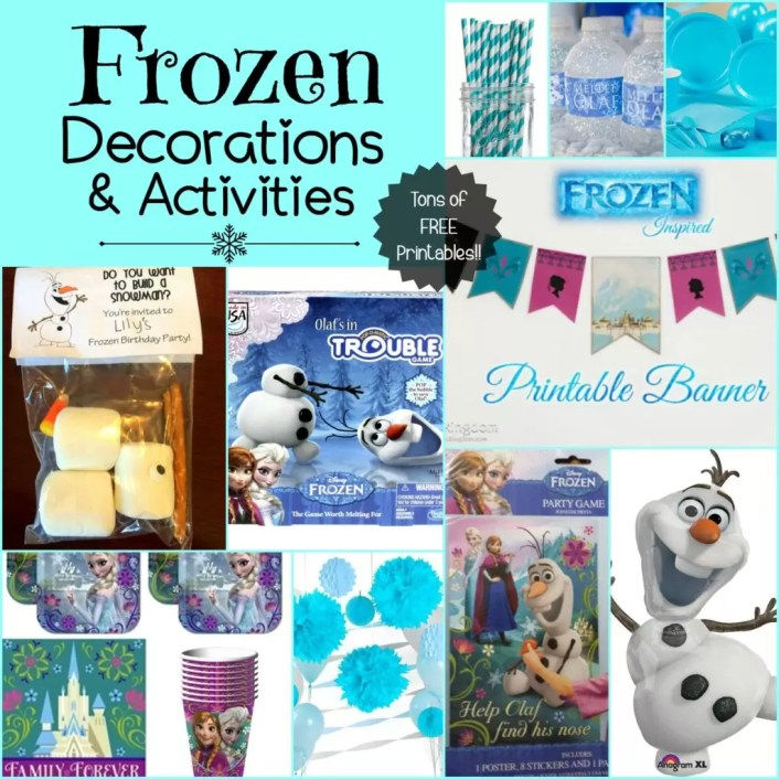 The BEST Frozen themed decorations, printables and activities!