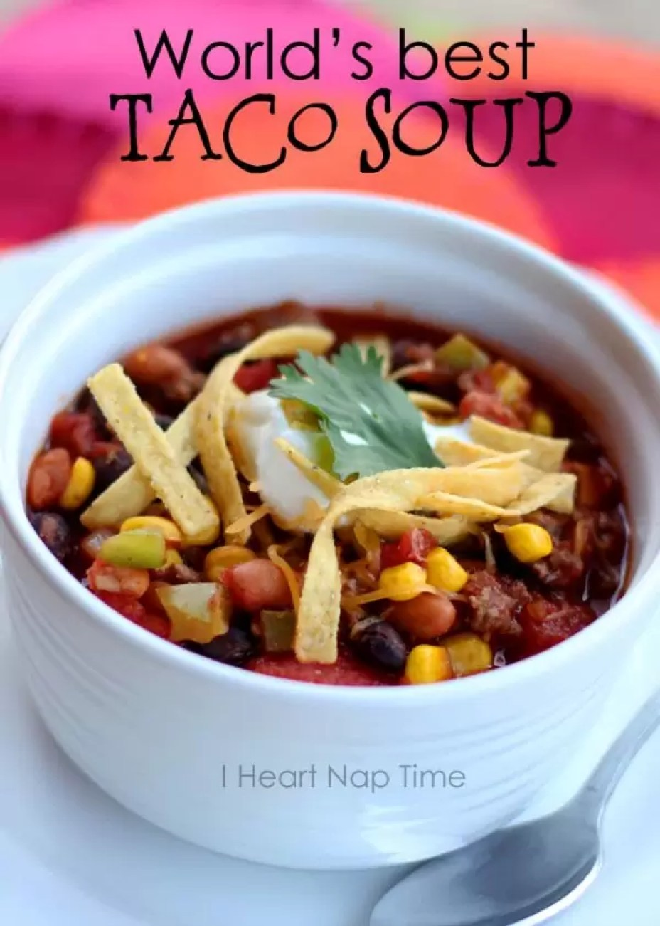 Taco Soup  by I Heart Nap Time