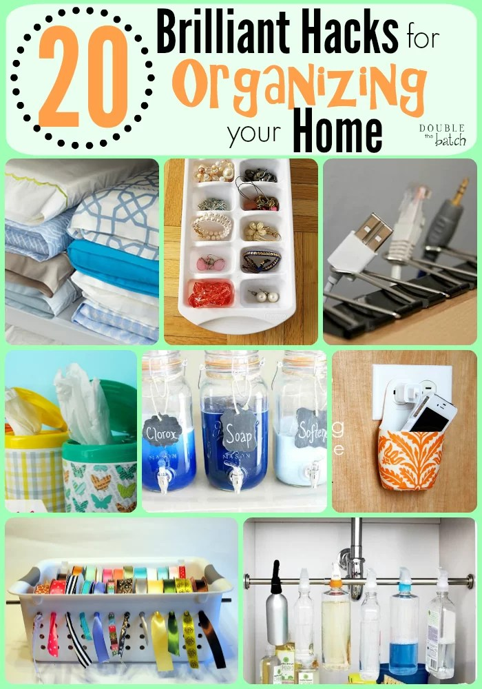 Some of the greatest hacks for organizing on a small budget!