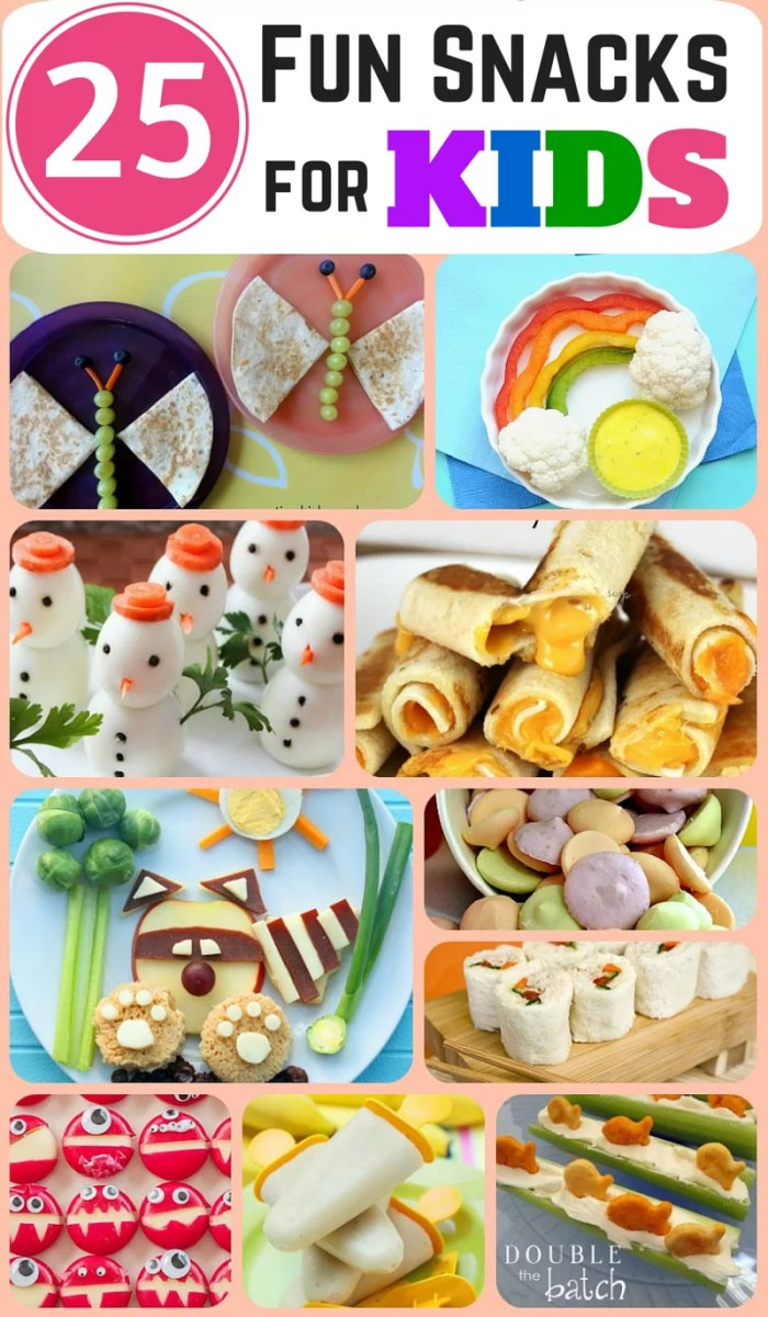 25 Fun and Healthy Snacks for Kids