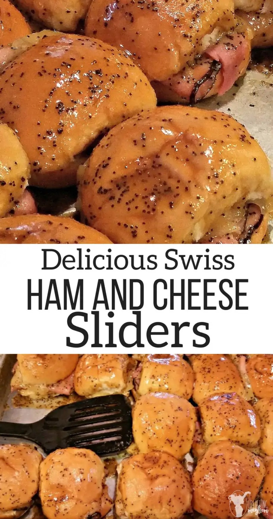 Sweet Ham and Swiss Sliders. Quick, Easy, and DELICIOUS!! Great for feeding large groups of people or as a meal your whole family will love