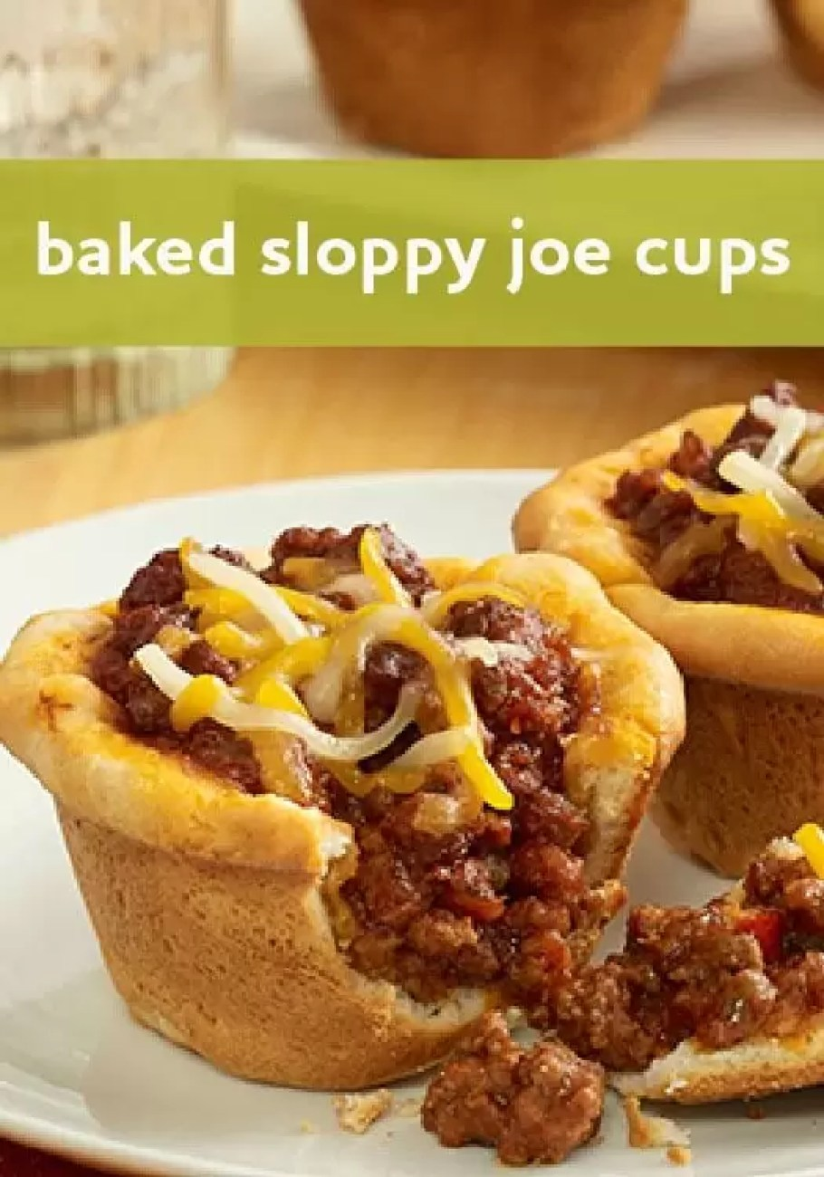 Baked Sloppy Joe Cups by Ready Set Eat