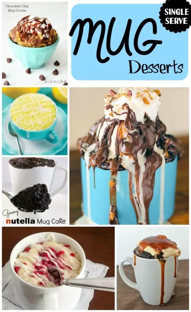 EASY single serve mug desserts!