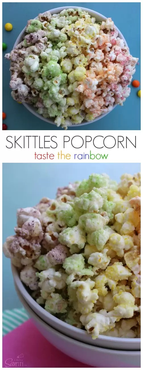 Skittles Popcorn from A Dash of Sanity