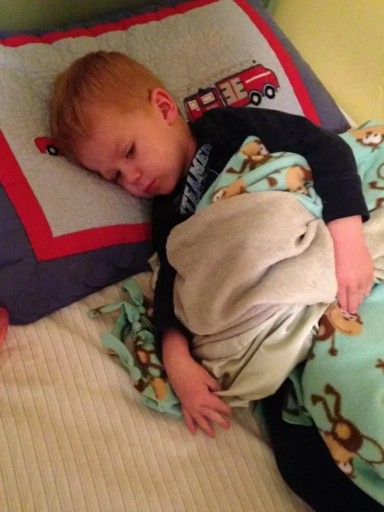 evan sleeping