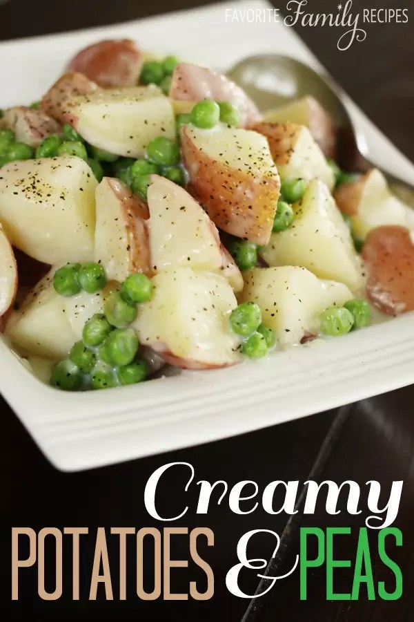 Creamy Potatoes and Peas by Favorite Family Recipes