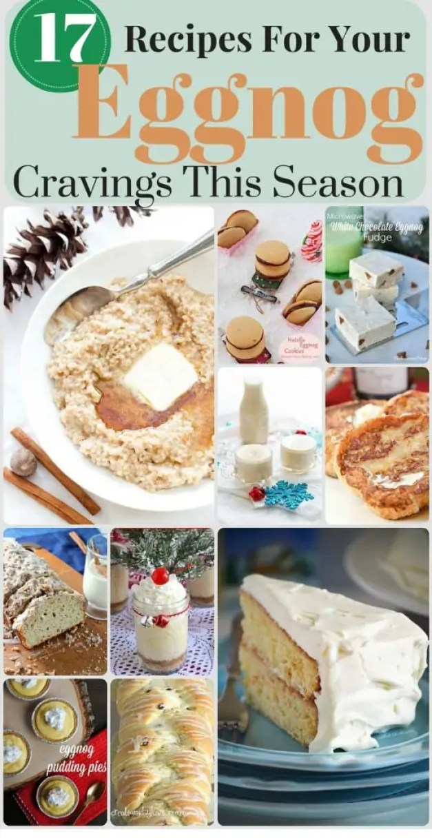For you Eggnog lovers out there! 17 of the most delicious eggnog recipes! My husband is going to love me!