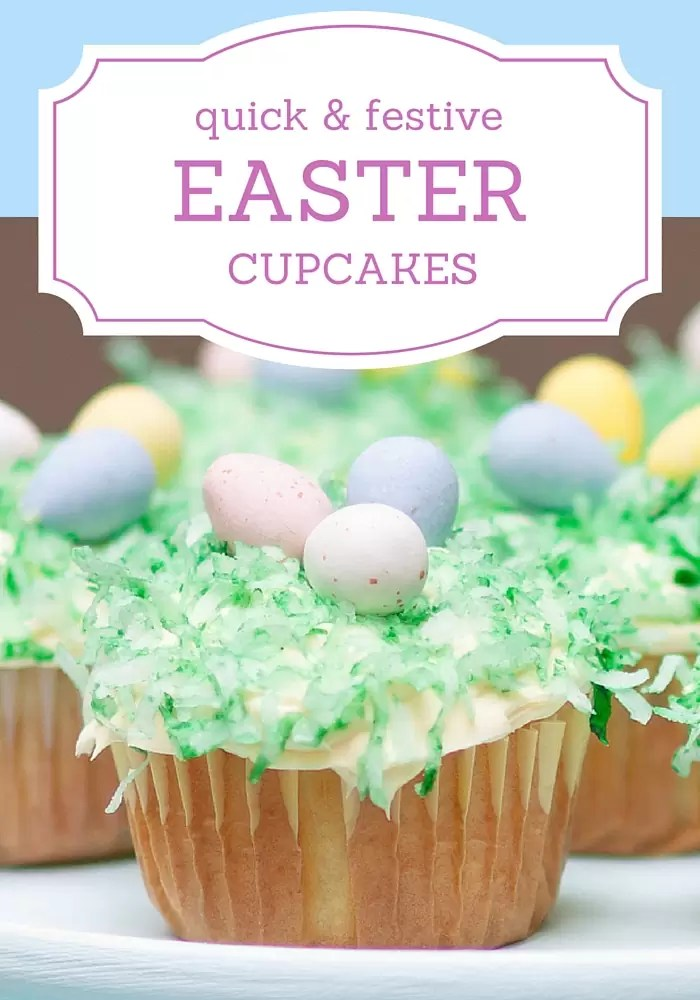 Cute Easter Cupcakes that are SUPER easy to make!