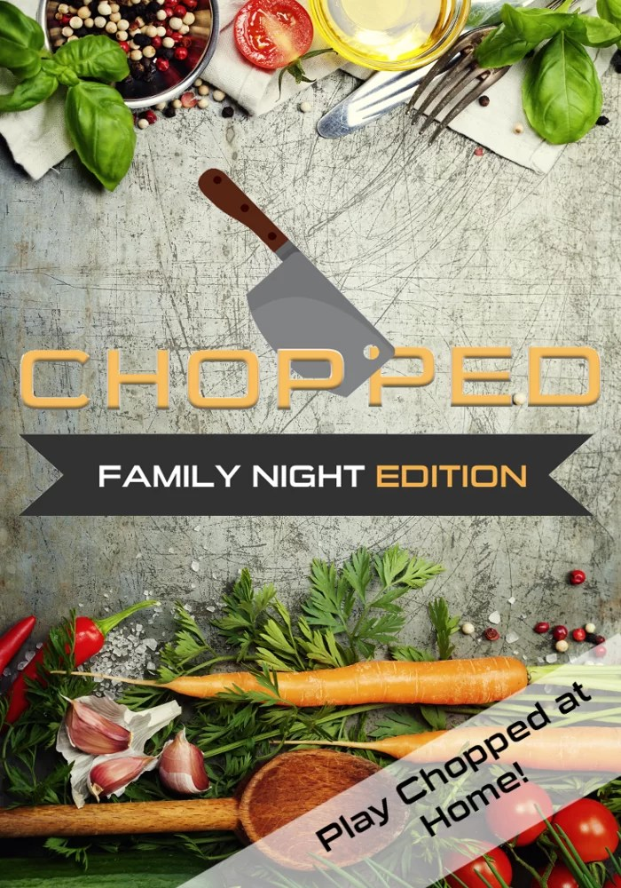 Play Chopped at home! Great for family night or even group date nights. Game printables included!