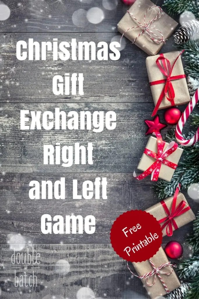 A fun and simple way to exchange gifts at your next party! The Christmas Gift Exchange Right and Left Game.