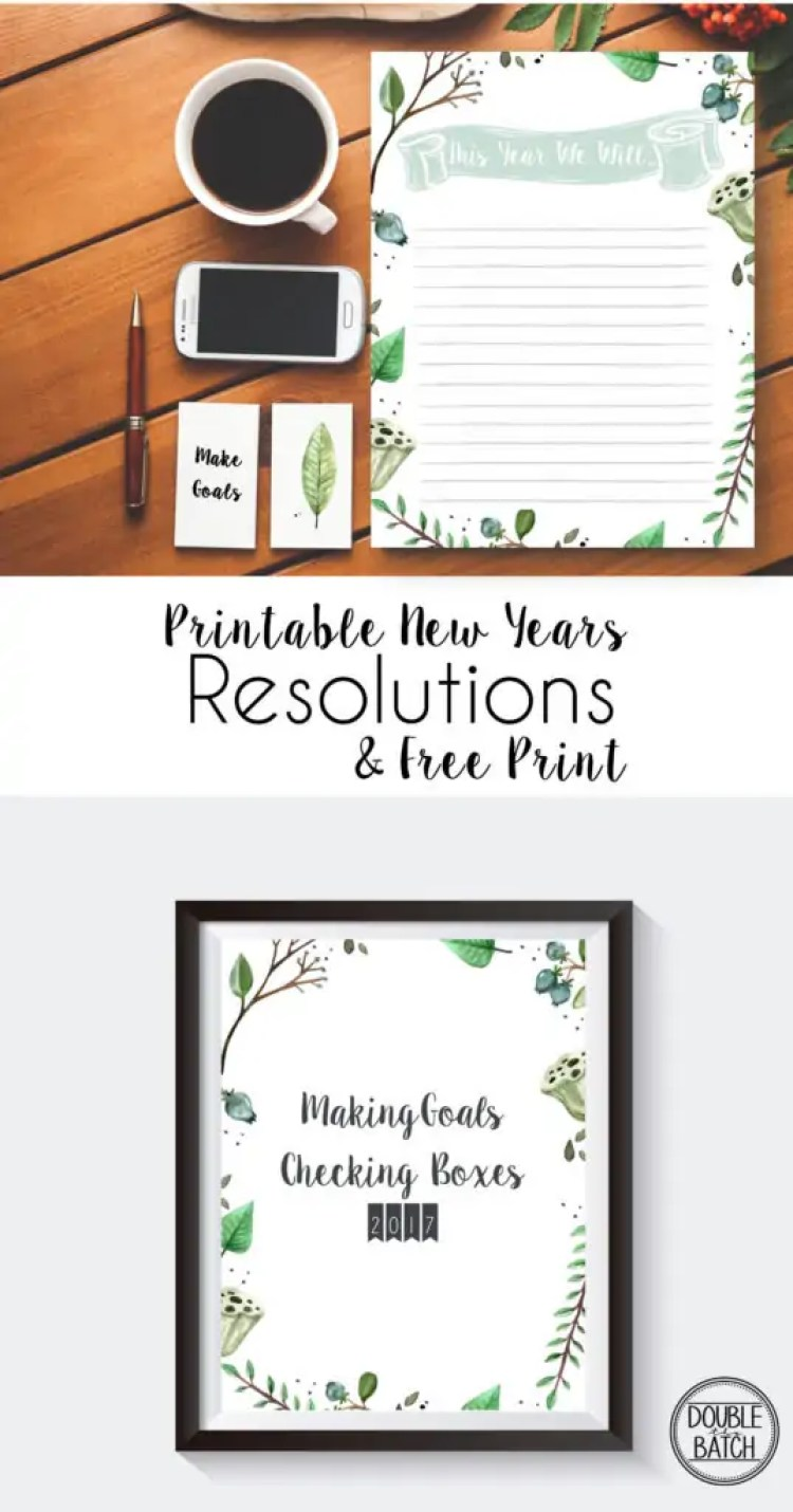 This year make setting your New Years resolutions fun and easy. Simply print off this beautiful New Years resolution stationary and your ready to start setting goals! Also, don't forget to print off an adorable matching office print to help you stay motivated throughout the year.