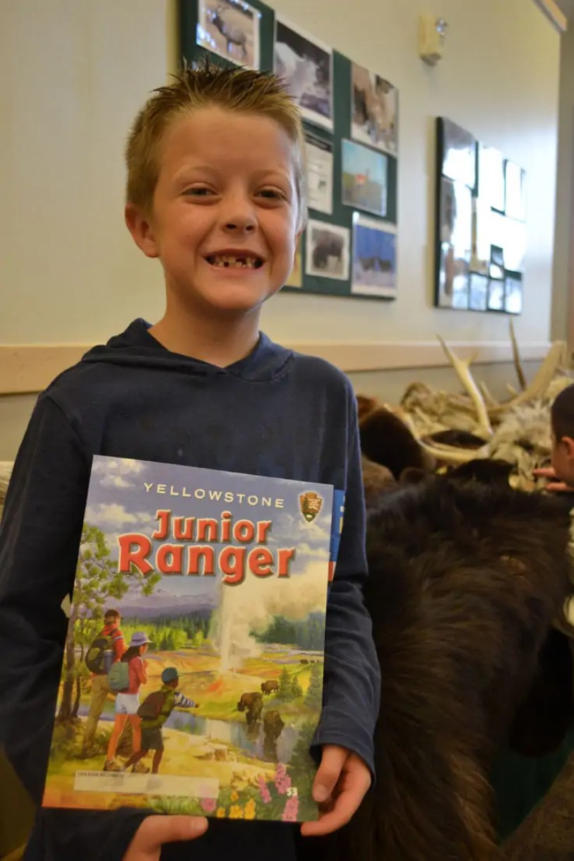 Yellowstone, junior ranger, workbook