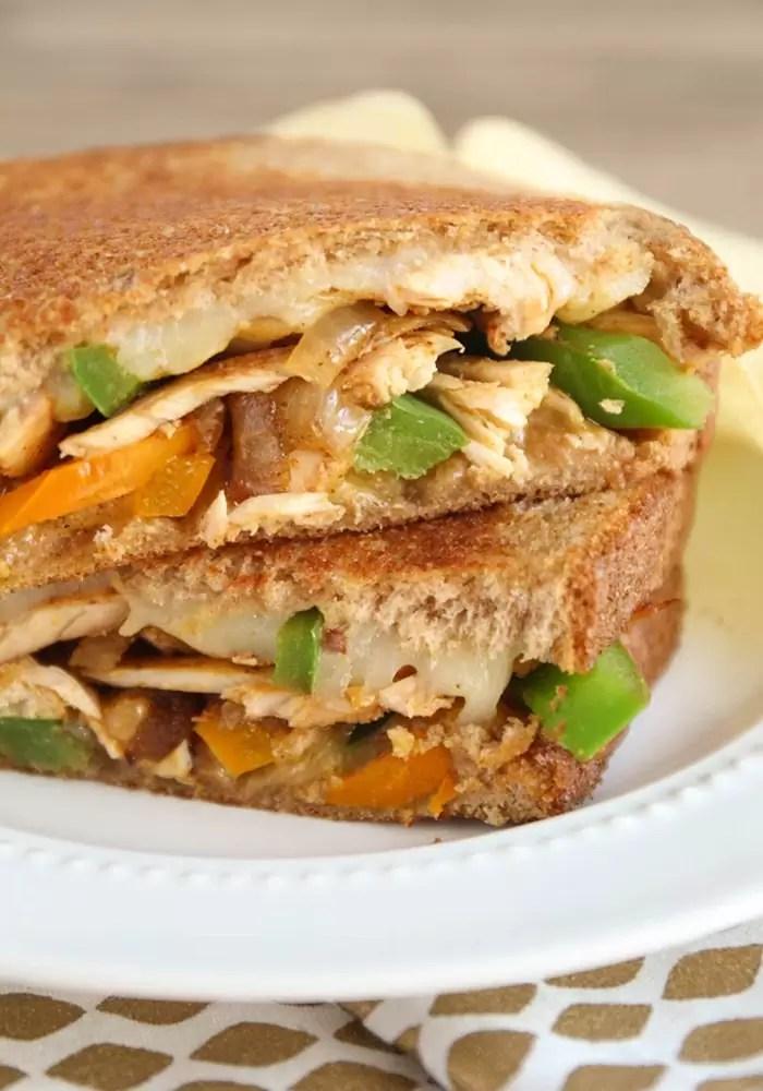 chicken fajita grilled cheese + other favorite chicken recipes