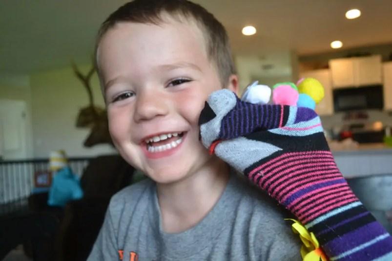 sock puppet, kiss, son
