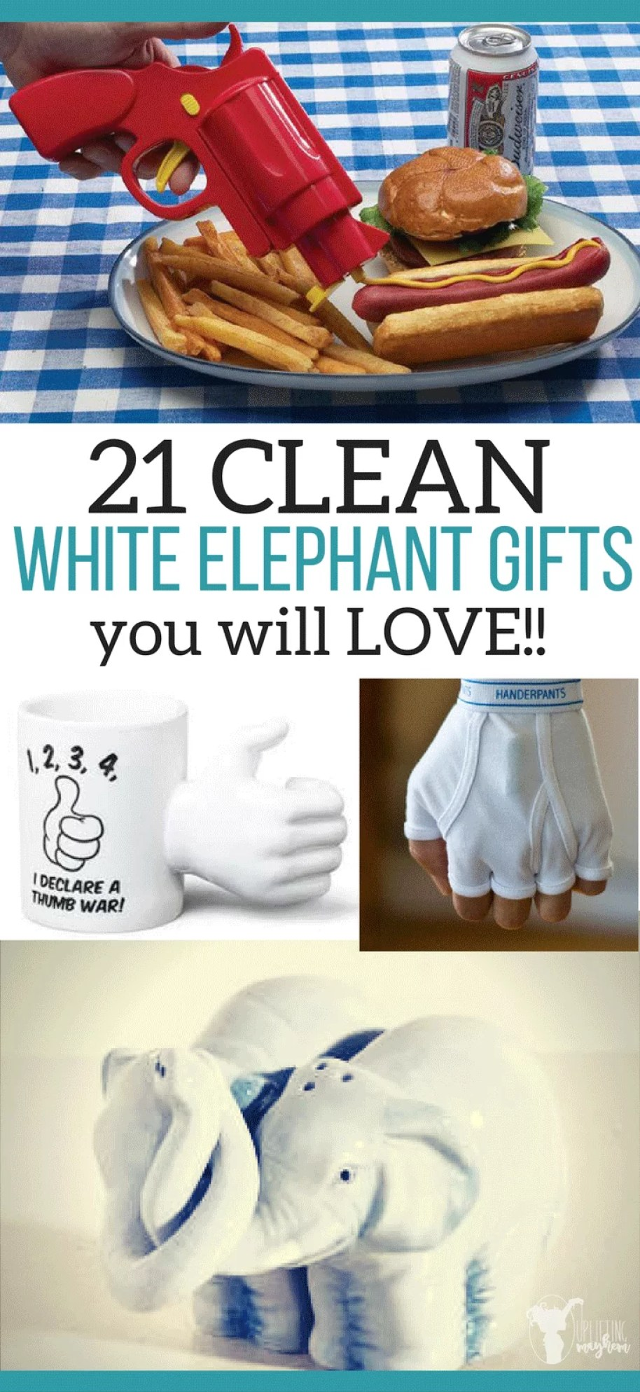 Wondering what white elephant gifts you should bring to the upcoming gift exchange at this year's holiday party? We've got a wide assortment of white elephant gifts so you can be Johnny on the spot with the perfect gift for this occasion. Be the hero of the gift exchange by bringing anything from this list.