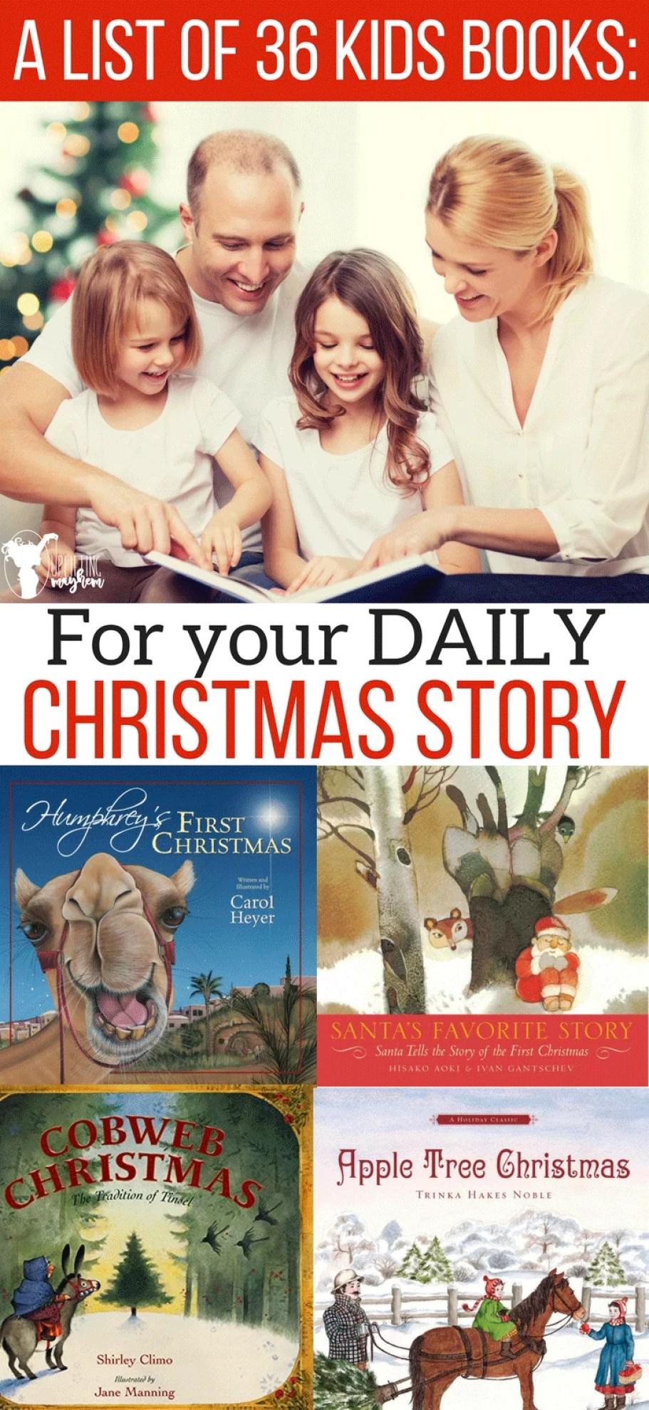 A List of 36 Christmas Kids Books