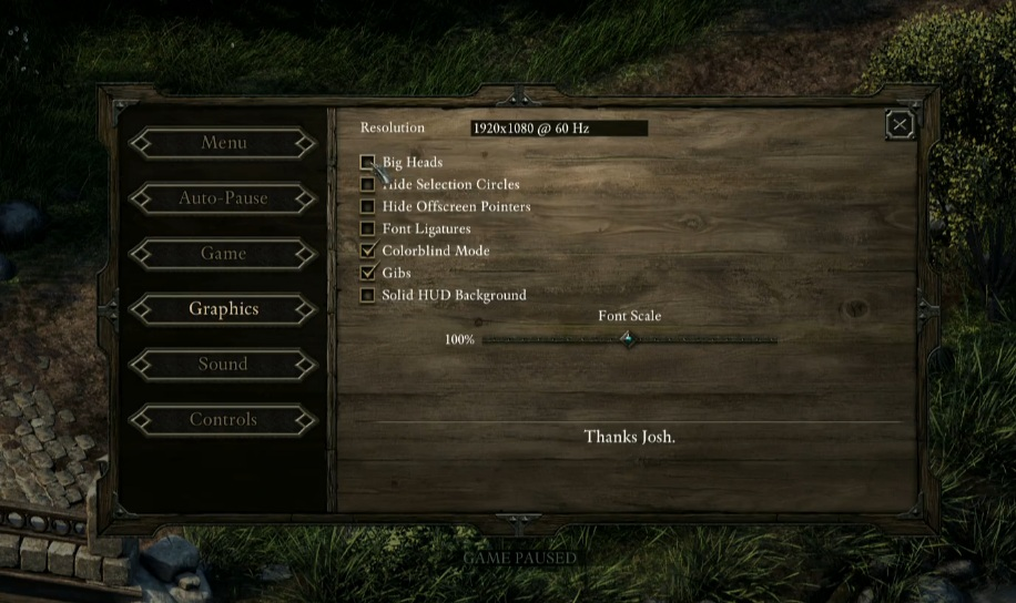 PE Options Menu More Selection Circle QQ Pillars Of Eternity General Discussion NO
