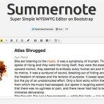 Summernote Super Simple jQuery WYSIWYG Editor on Bootstrap 150x150 - Lista Top 10 com plugins para criar fantásticas apresentações utilizando apenas HTML 5 e CSS