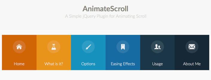 2 AnimateScroll - Os 15 melhores Plugins jQuery para criar efeito Scroll Animado com CSS