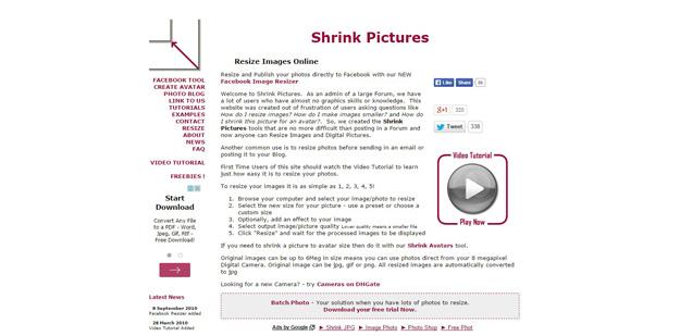 11 shrink pictures - 12 ferramentas para você compactar suas imagens e reduzir o tamanho em até 80%