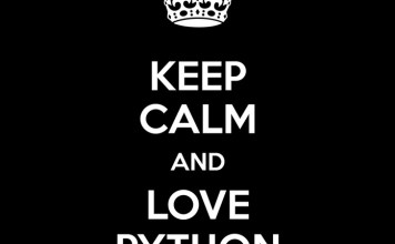 keep calm and love python