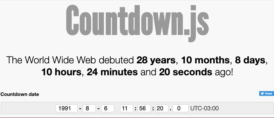 countdownjs - 7 bibliotecas para trabalhar com data em JavaScript