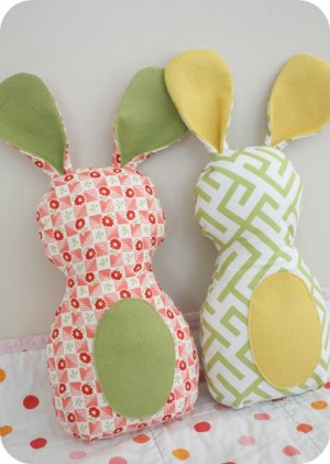 Fabric Bunny DIY | Up North Parent The Simplicity Project