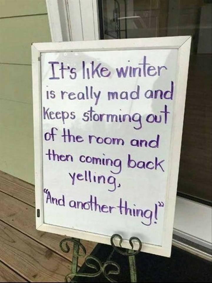 never-ending Minnesota winter