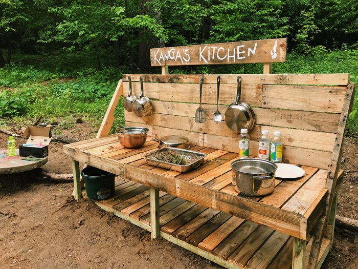 Outdoor learning space at Ashdown Forest School in Brainerd, MN