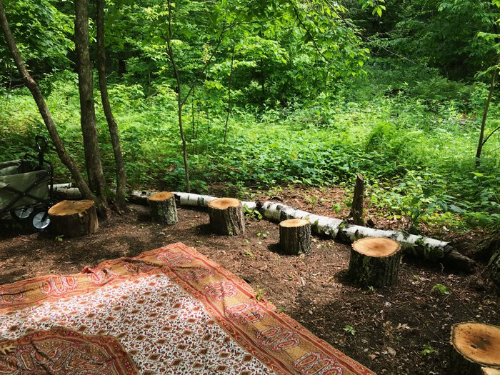 Outdoor learning space at Ashdown in Brainerd, MN