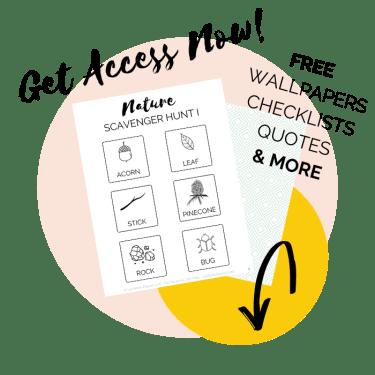 Free Printable Nature Checklist Up North Parent