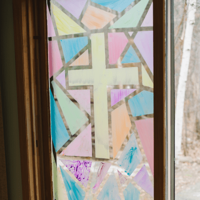 How to Make a DIY Faux Stained Glass Window for Kids