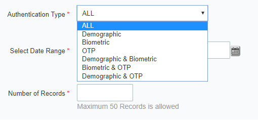 Choose authentication type