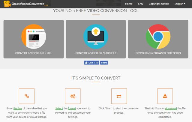 OnlineVideoConvert Free Video Conversion Tool