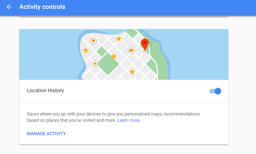 Turn off Google Location History