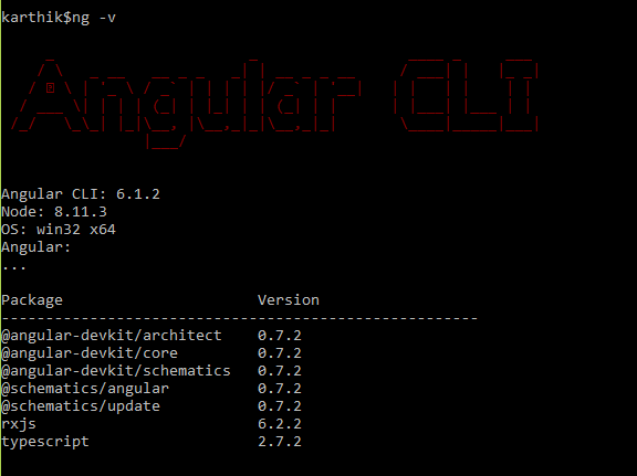 Confirm Angular CLI Installation