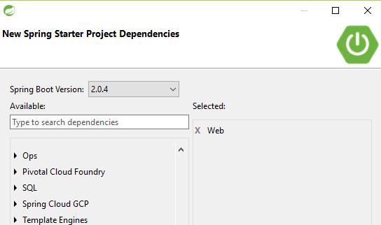 Choose dependencies