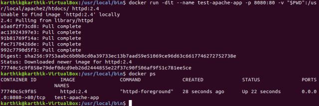 Run httpd server on gVisor