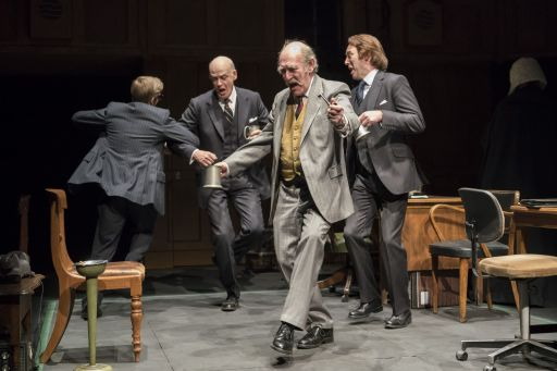 Giles Cooper, William Chubb, Nicholas Lumley and Matthew Pidgeon_This House_credit Johan Persson